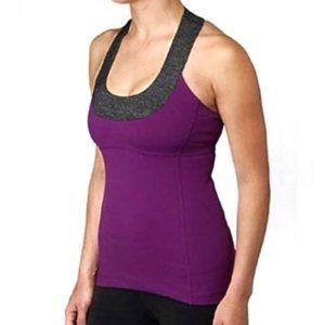 Lululemon Purple Scoop Neck Workout Tank Top